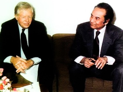 Agh Hasan Abedi and Jimmy Carter