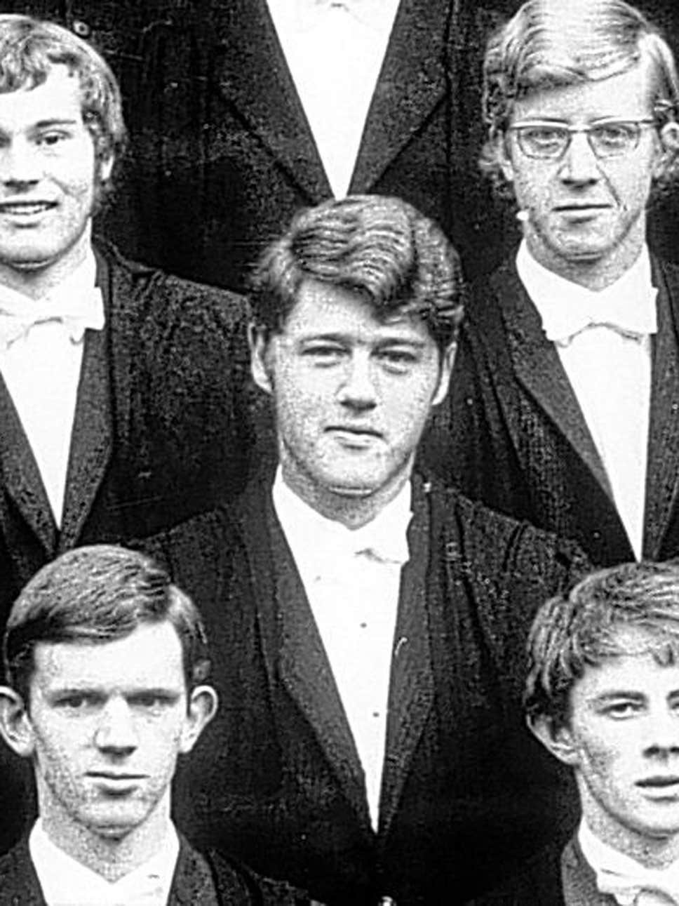 Bill Clinton Oxford 1968.
