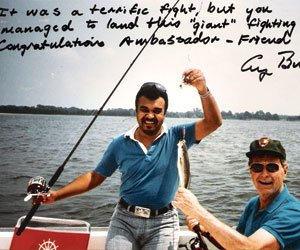 George H. W. Bush and Bandar fishing 1997.