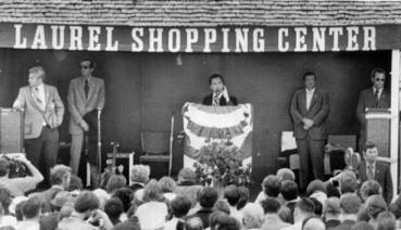 George Wallace 1972 Laurel Shopping Center