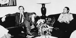 Noriega and George Bush