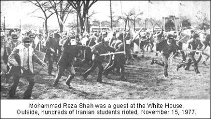 Shah of Iran November 15, 1977 riots