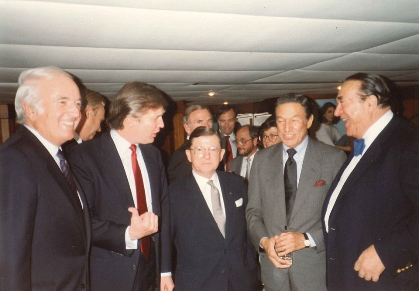 Robert Maxwell, John Tower, Donald Trump