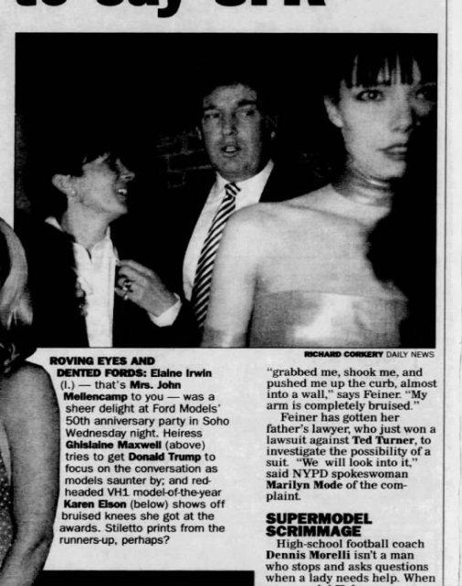 Trump Ghislaine Soho 1997